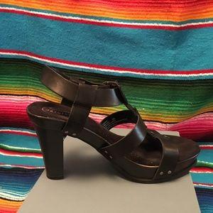 Dr Scholl's Candid 8  Comfy Sexy Black High heels